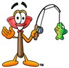 Cartoon Plunger Fishing clipart