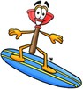 Cartoon Plunger Surfing clipart