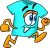 Cartoon T Shirt Running clipart