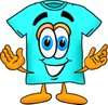 Cartoon T Shirt Welcoming People clipart