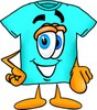 Cartoon T Shirt Pointing Forward clipart