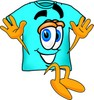 Cartoon T Shirt Jumping clipart