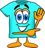 Cartoon T Shirt Pointing Sideways clipart