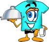 Cartoon T Shirt Waiter clipart