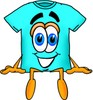 Cartoon T Shirt Sitting clipart