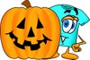 Cartoon T Shirt With a Halloween Pumpkin clipart
