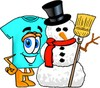 Cartoon T Shirt With a Snowman clipart