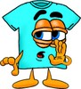 Cartoon T Shirt Whispering a Secret clipart