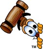Cartoon Mallet Peeking Sideways clipart