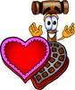 Cartoon Mallet on Valentines Day clipart