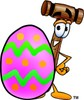 Cartoon Mallet at Easter clipart