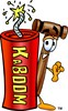 Cartoon Mallet With a Fire Cracker clipart