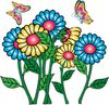 Butterflies Flying Around Flowers clipart