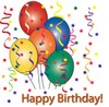 Birthday Balloons and Streamers clipart