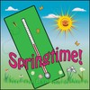 Springtime Thermometer With Flowers clipart