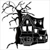 Haunted House Silhouette clipart