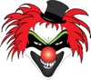Scary Clown Face clipart