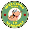A Welcome Back to School Bookworm. clipart