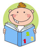 A Cute Cartoon Boy Studying Math. clipart