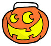 A Grinning Jack O' Lantern Carrying Bucket. clipart