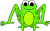 Speckled green cartoon frog or toad clipart