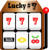 Lucky slot machine with three sevens... Jackpot! clipart