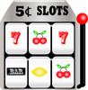 Casino slot machine clipart