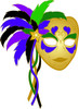 Beautiful exotic Mardi Gras mask for Mardi Gras or Carnival clipart