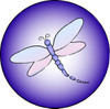 Purple dragonfly icon clipart