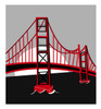 Clip Art Illustratin Of the Golden Gate Bridge clipart