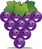 Pamela Perry illustration showing a bunch of happy grapes in a cartoon style drawing clipart