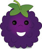 Pamela Perry illustration showing a cartoon blackberry clipart