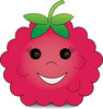 clip Art Image Of A Cartoon Raspberry With  A Happy Smiley Face clipart