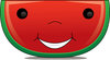 Clip Art Image Of A Cartoon Watermelon Slice With A Happy Face clipart