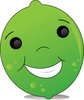 Clip Art Image Of A Happy Smiling Cartoon Lime clipart