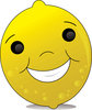Clip Art Image Of A Happy Smiling Cartoon Lemon clipart
