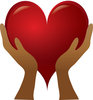 Clip Art Image Of A Pair Of Hands Holding a Red heart clipart