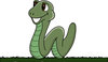 Clip Art Image Of A Happy Smiling Worm Moving Across The Grass clipart