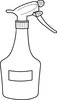 clip art image of a spray bottle clipart