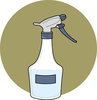 clip art image of a plastic spray bottle on a green background  clipart
