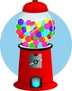 clip art illustration of a gumball machine clipart