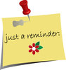 clip art image of a reminder note with a stick pin  clipart