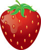 clip art illustration of a ripe red strawberry clipart