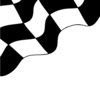 clip art illustration of a portion of a racing flag on a white background clipart