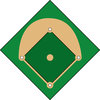 clip art illustration of a baseball diamond clipart