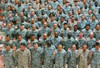 Soldiers Taking an Oath clipart