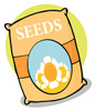 A bag of flower seeds clipart