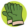 work gloves or a pair of gardening globes clipart