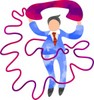 business man with telephone clipart