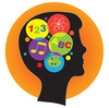 Icon image of an intelligent child learning many subjects including math, science and the arts clipart